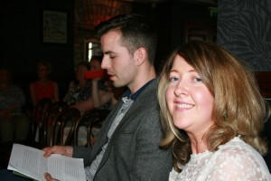 Jamie O Connell launches our group anthology, What Champagne Was Like. An excuse was had to get hair made big by Rozzie.