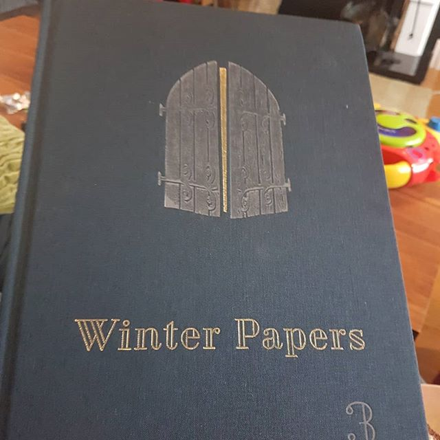 The 3rd edition of the beautiful and very good looking(inside and out, you know) of @winterpapers from @simonmlewis alongside a @williamWall essay with chocolate Yule Log. Life is rather nice. Love the navy and gold finish.