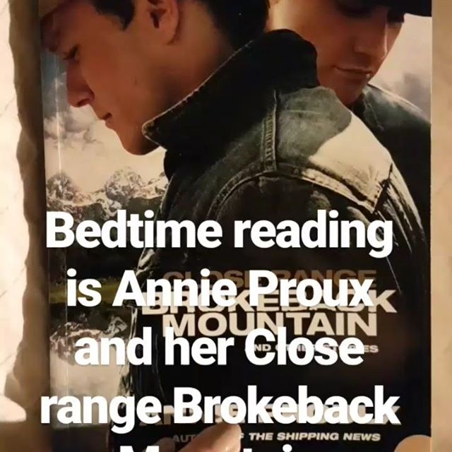 Reading the first story in this collection by Annie Proux this evening. Brokeback Mountain is a set of stories set in Wyoming, USA.
