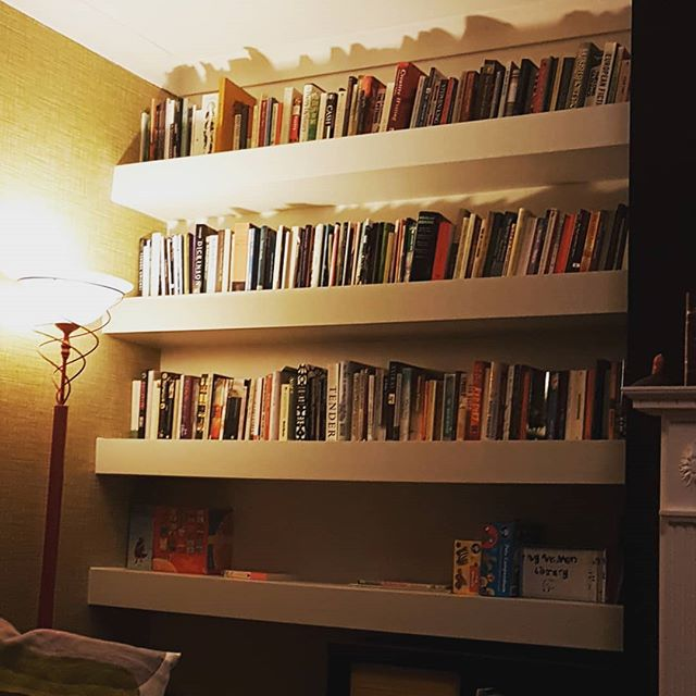 It's love. New bookshelf. After months of our poor books being trapped in boxes and stored in closed door cupboards...