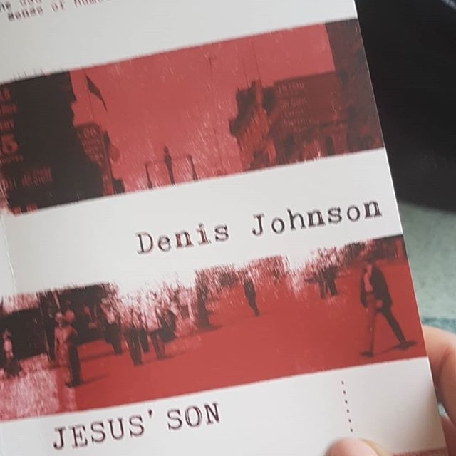 Jesus' son, short fiction collection by Denis Johnson. Let's do this. Everyone tells me that I need to get this book read so I'm doing it! Hope it's not too full of drugs. Not keen on this, for some reason! . .
