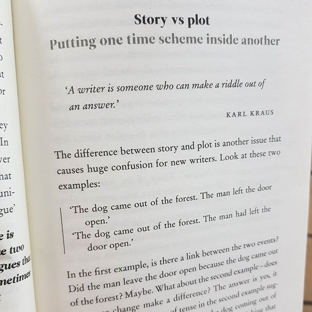 Story v plot. Plot is everything. I usually revel against planning when I write but I think things are leading me to sit and plan. Am reading about plot lines and how they matter hugely not only with readability, reader's interest but in helping the writer come up with fresh ways to spin the yarn. . . .