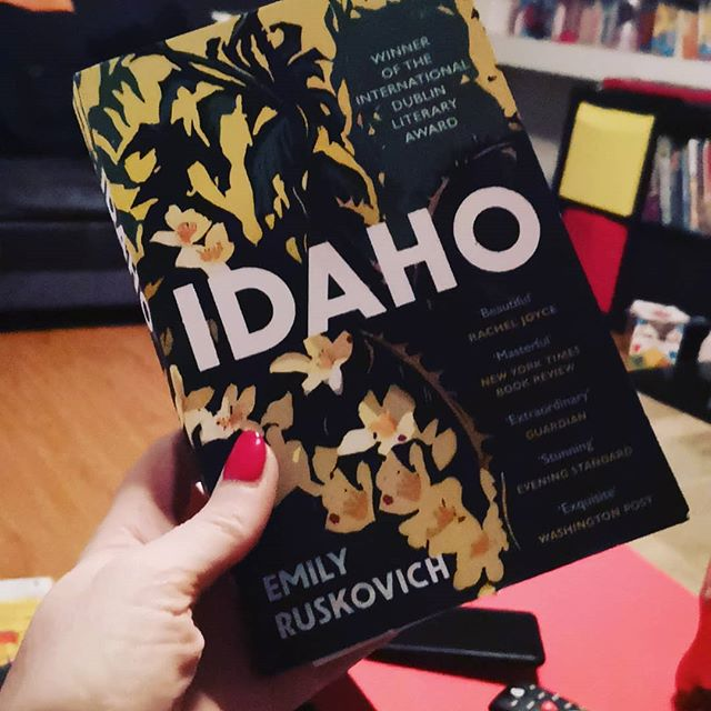 Idaho by Emily Ruskovich. Enjoying this slow novel