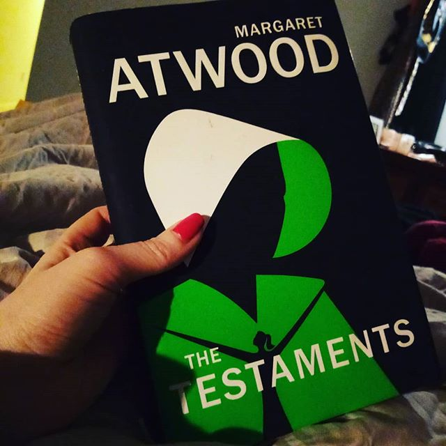 The testaments, Margaret Atwood. Halfway through this. Initially found it very slow. It's speeding up now but the narrators are confusing me as the voice in all sound the same. I'll persevere.
