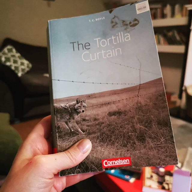 The Tortilla Curtain by T. C. Boyle. Current read. Devouring but let's wait till the end till I make up my mind. No sense in making a snap judgement now...